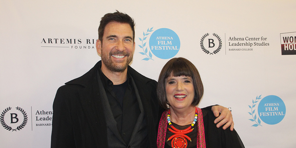Dylan McDermott and Eve Ensler at the 2017 Athena Film Festival