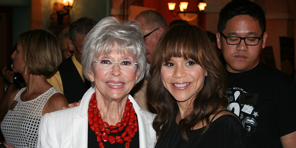 Rita Moreno and Rosey Perez at the Gasparilla Film Festival 2016 in Tampa.