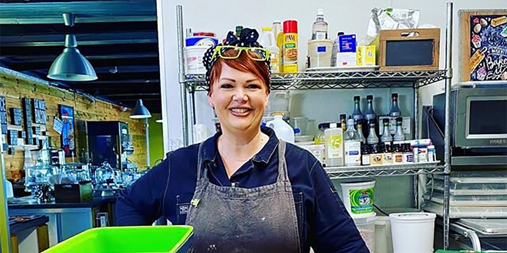 Trina Gregory-Propst in the kitchen of Se7en Bites.